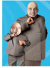 Google's Sergey Brin and Larry Page as Dr. Evil and Mini-Me