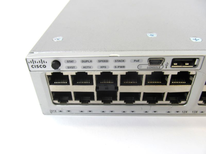 CISCO WS-C3850-48F-S-D Cosmetic Damage Stackable 48 Port Ethernet PoE - WS-C3850-48F-S-D