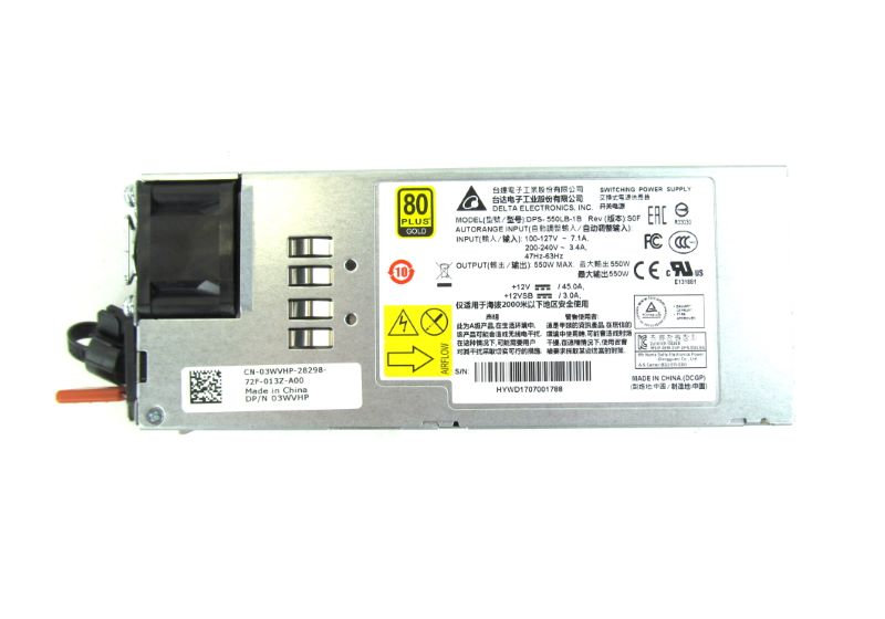Dell 3WVHP 550W Reverse Airflow In Power Supply for S4048T-ON 03WVHP - 3WVHP