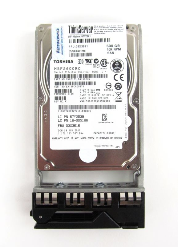 "IBM 0A91280 600Gb 10K RPM 6Gbps 2.5"" Hot-Swappable Hard Drive"