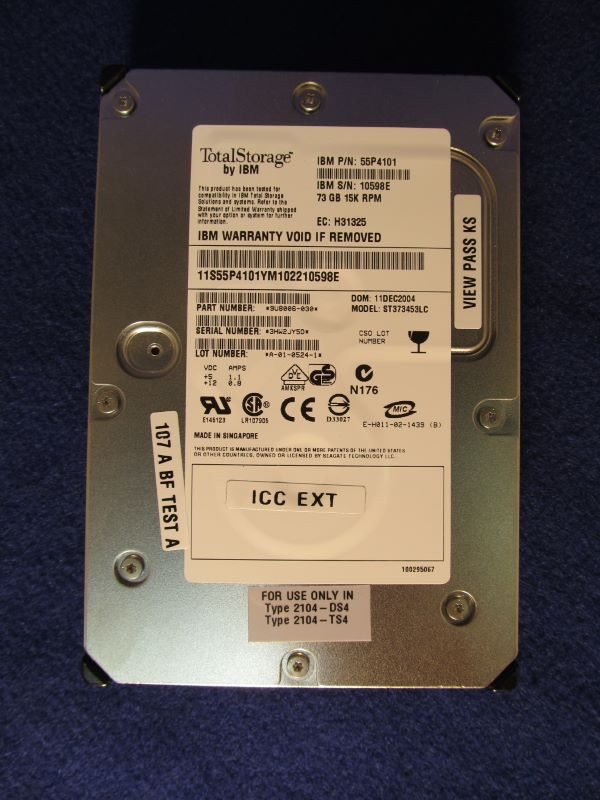 IBM 4573-2104 73GB 15K RPM 80 Pin U320 SCSI Disk Drive