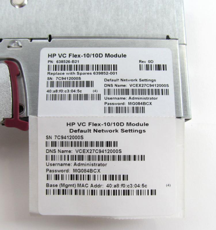 HP 638526-B21 HP Virtual Connect Flex-10/10D Module