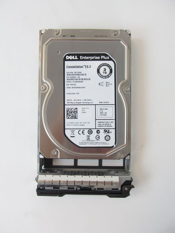 "Compellent 00KK92 Compellent 3TB 3.5"" SAS 7200 RPM 6Gbps HDD For SC200 ONLY"